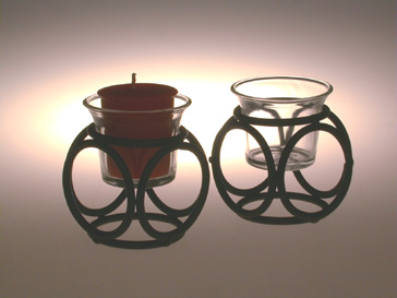 wrought iron votive candle holders