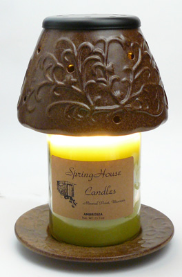 CANDLE WARMER LAMP SHADE AND PLATE For Melting Candle With No Flame