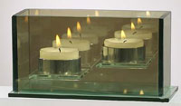 tea light candle holder double