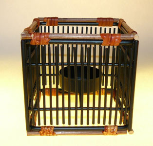 tea light holders, holder for tea light candle, iron and bamboo tealight holder, tea candle, tealight, holder