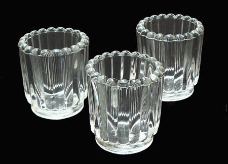 Votive Holder Fluted Crystal
